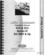 Operators Manual for Allis Chalmers D12 Tractor