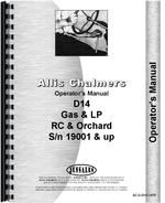 Operators Manual for Allis Chalmers D14 Tractor
