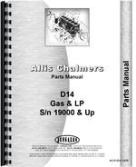 Parts Manual for Allis Chalmers D14 Tractor