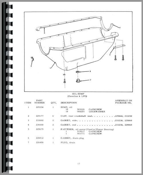 Allis Chalmers D17 Tractor Parts Manual