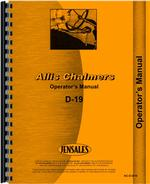 Operators Manual for Allis Chalmers D19 Tractor