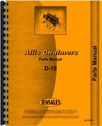 Parts Manual for Allis Chalmers D19 Tractor