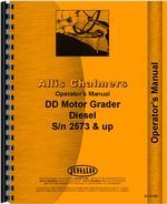 Operators Manual for Allis Chalmers DD Motor Grader