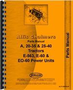 Parts Manual for Allis Chalmers E-563 Power Unit