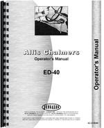 Operators Manual for Allis Chalmers ED40 Tractor