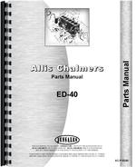 Parts Manual for Allis Chalmers ED40 Tractor