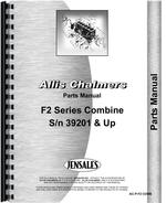 Parts Manual for Allis Chalmers F2 Combine