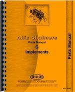 Parts Manual for Allis Chalmers G Farm Implements