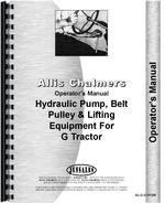 Operators Manual for Allis Chalmers G Hydraulics