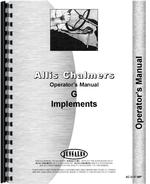 Operators Manual for Allis Chalmers G Farm Implements