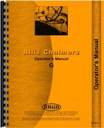 Operators Manual for Allis Chalmers G Tractor