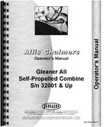 Operators Manual for Allis Chalmers A2 Combine