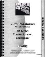 Operators Manual for Allis Chalmers H4 Crawler