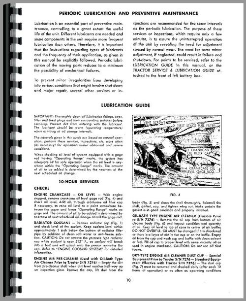Operators Manual for Allis Chalmers HD11E Crawler Sample Page From Manual