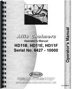 Operators Manual for Allis Chalmers HD11F Crawler