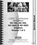 Service Manual for Allis Chalmers HD16 Crawler
