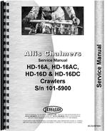 Service Manual for Allis Chalmers HD16AC Crawler