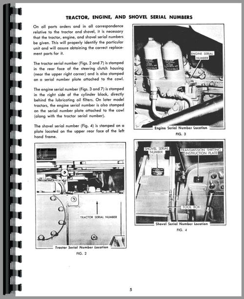 Operators Manual for Allis Chalmers HD16GC Crawler Sample Page From Manual
