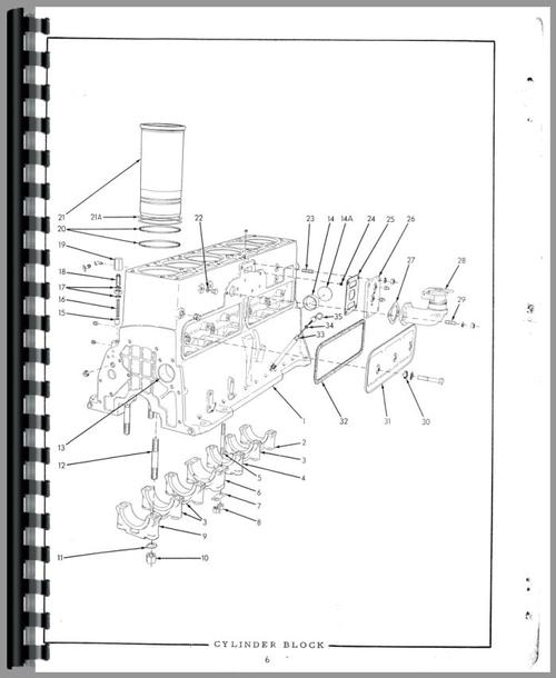 Parts Manual for Allis Chalmers HD16GC Crawler Sample Page From Manual