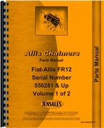 Parts Manual for Allis Chalmers FR12 Tractor