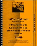 Operators Manual for Allis Chalmers F2 Combine