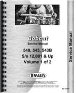 Service Manual for Bobcat 541 Skid Steer Loader