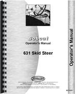 Operators Manual for Bobcat 631 Skid Steer Loader