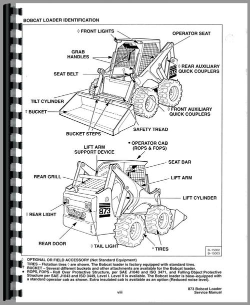 bobcat 873 engine diagram