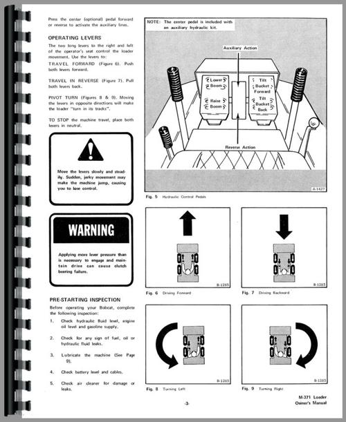 Bobcat M-371 Skid Steer Loader Operators Manual