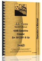Operators Manual for Case 420B Crawler