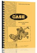 Parts Manual for Case 600 Combine
