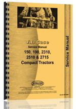 Service Manual for Case Colt 2712 Lawn & Garden Tractor