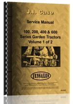 Service Manual for Case 600 Lawn & Garden Tractor