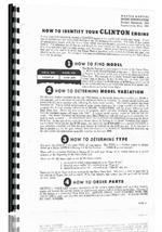 Parts Manual for Clinton 100 Series Engine