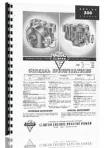 Parts Manual for Clinton 200 Series Engine