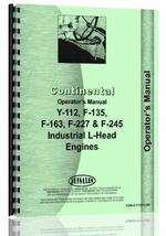 Operators Manual for Continental Engines L HEAD Engine