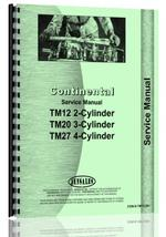 Service Manual for Continental Engines TM27 Engine