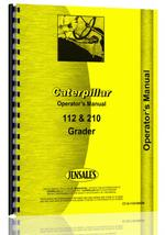 Operators Manual for Caterpillar 112 Grader