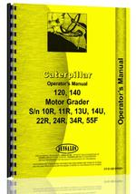 Operators Manual for Caterpillar 140 Grader
