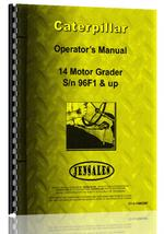 Operators Manual for Caterpillar 14 Grader