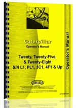 Operators Manual for Caterpillar 20 Crawler