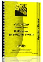 Operators Manual for Caterpillar 225 Excavator