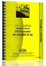 Operators Manual for Caterpillar 225 Excavator