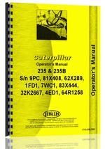 Operators Manual for Caterpillar 235 Excavator