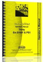Operators Manual for Caterpillar 30 Crawler