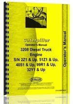 Operators Manual for Caterpillar 3208 Engine