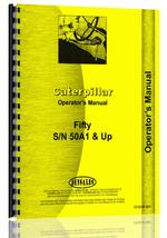 Operators Manual for Caterpillar 50 Crawler