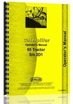 Operators Manual for Caterpillar 65 Crawler