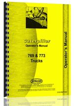 Operators Manual for Caterpillar 769 Truck