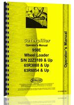 Operators Manual for Caterpillar 950E Wheel Loader